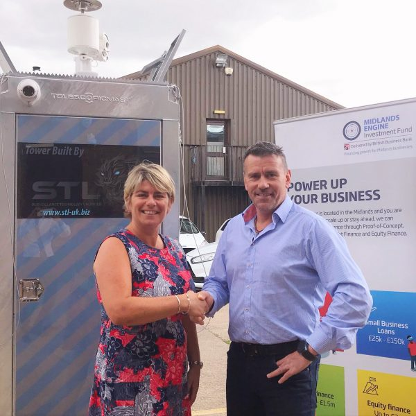 Angie Preece (left), BCRS Business Loans and David Beech of Malvern-based LT Security
