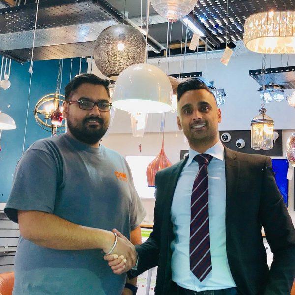 (L-R) Sundar Bhambra, DSK Electrical and Osman Baz, BCRS Business Loans