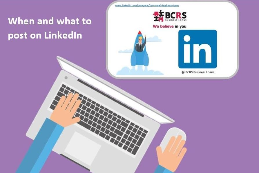 When and what to post on LinkedIn