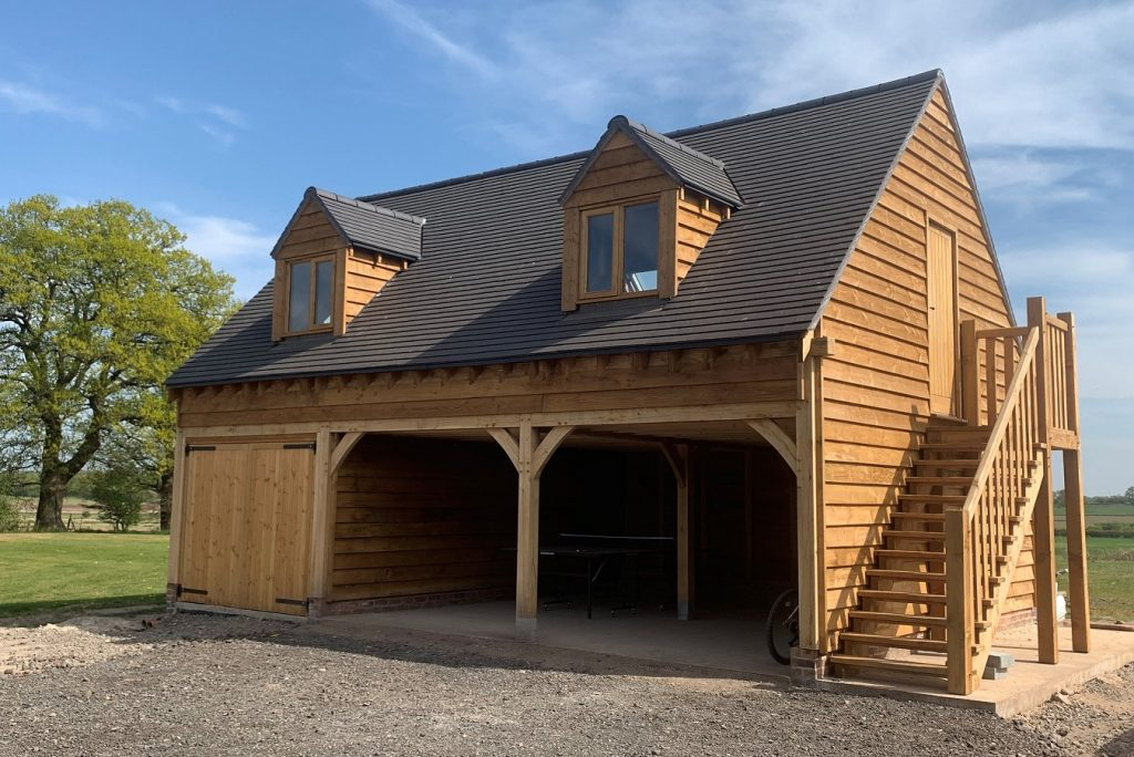 Stunning oak structure designed, manufactured and built by Enville Oak