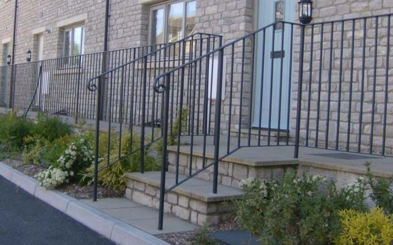Railings made by Cirencester Fabrication Services