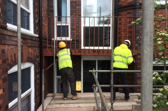 Trades and Labourers team completing work on a construction contract.